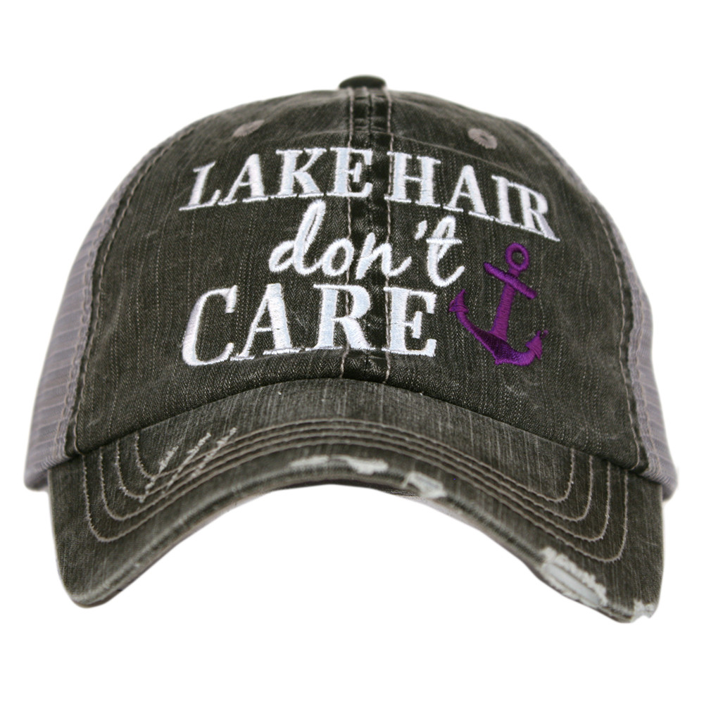 Lake Hair Don't Care.  Women's Trucker Hat
