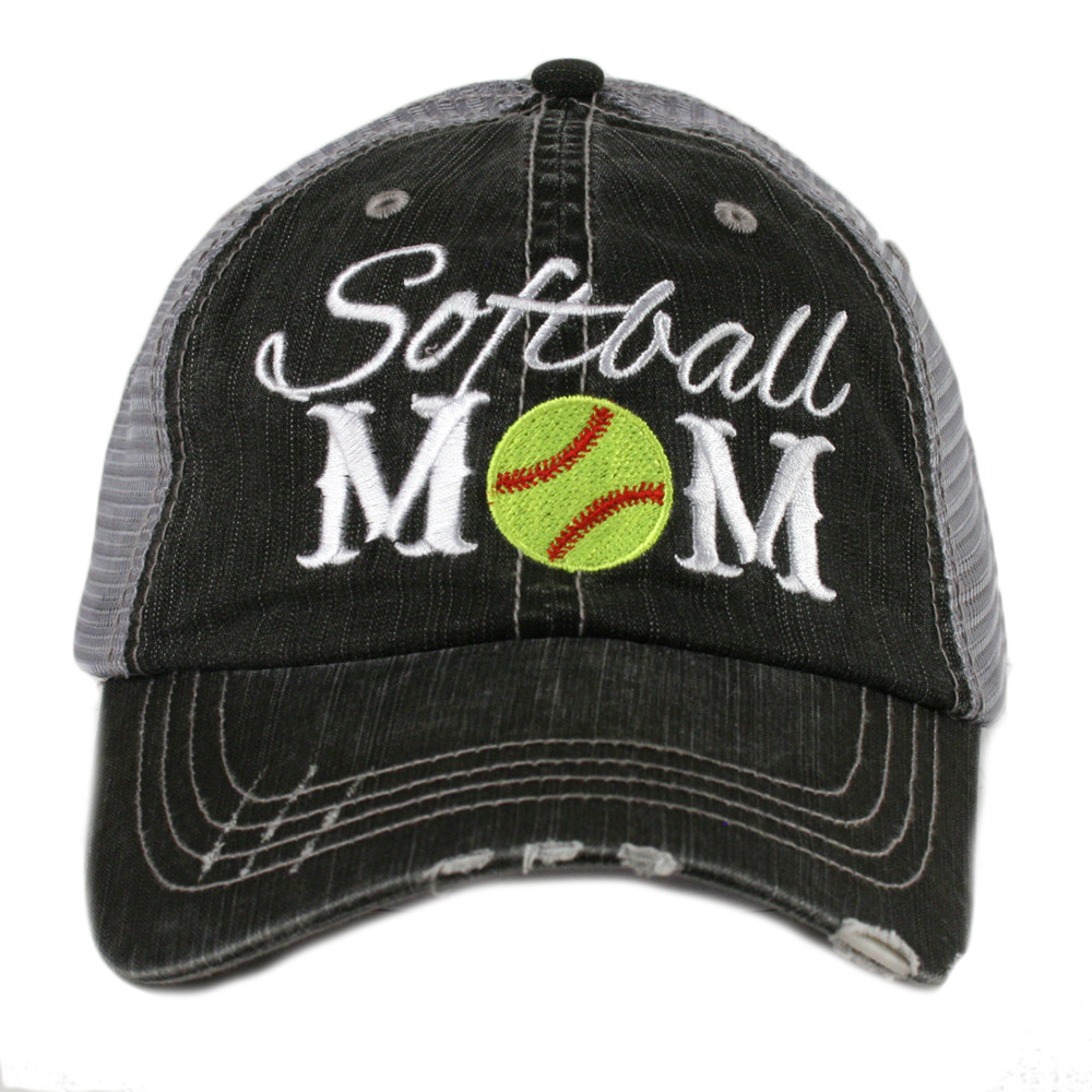 Softball Mom.  Women's Trucker Hat