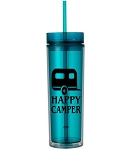 Happy Camper.  16 ounce Tumbler