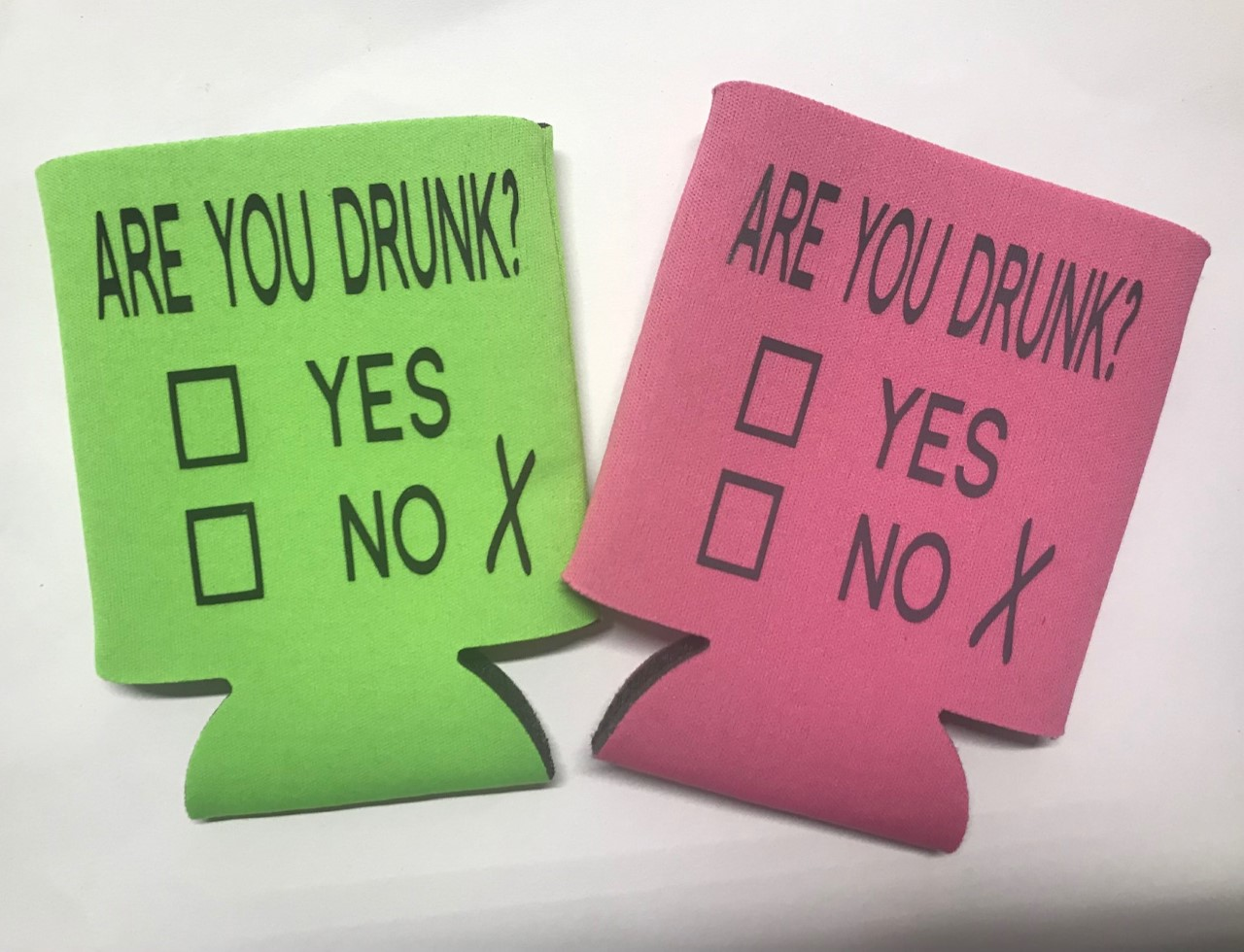 Are You Drunk?  Yes or No.  Collapsible Can Cooler / Coozie