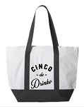 Cinco de Drinko.  Zipper Tote Bag