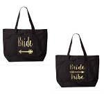 Bride & Bride Tribe.  Matching Bridal Party Zipper Tote Bag
