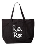 River Rat.  Zipper Tote Bag