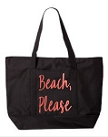 Beach Please.  Zipper Tote Bag