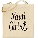 Nauti Girl.  Canvas Tote Bag