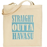 Straight Outta (Your City Name Here).  Personalized Canvas Tote Bag