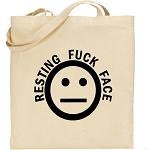 Resting Fuck Face.  Canvas Tote Bag