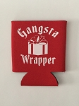Gangsta Wrapper.  Collapsible Can Cooler / Coozie
