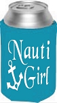 Nauti Girl.  Collapsible Can Cooler / Coozie