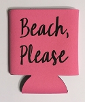 Beach, Please.  Collapsible Can Cooler / Coozie