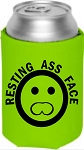 Resting Ass Face.  Collapsible Can Cooler / Coozie