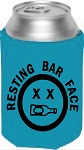 Resting Bar Face.  Collapsible Can Cooler / Coozie