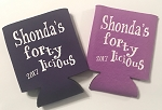 Personalized Coozies for 40th birthday.  Collapsible Can Cooler / Coozie