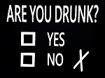Are You Drunk?  Check Yes Or No.  Vinyl Decal