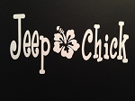 Jeep Chick.  Vinyl Decal