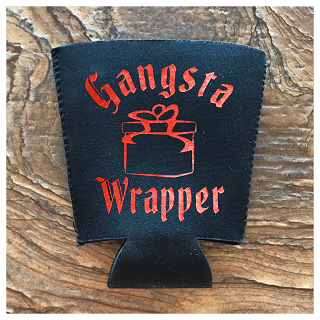 Gangsta Wrapper.  Pint Glass Cooler