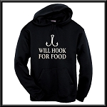 Will Hook For Food.  Hoodie