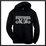 Football Mom Hoodie With Option To Personalize With Childs Name and Number
