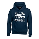 This Girl Loves The Cowboy.  Dallas Cowboy Hoodie