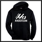 Personalized Mrs. With Year Est.  Hoodie