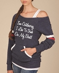 Ladies Scoop Neck Sweatshirts