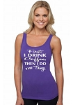 First I Drink Coffee, Then I Do The Things.   Ladies Fitted Jersey Tank