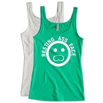 Resting Ass Face.   Ladies Fitted Jersey Tank