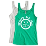 Resting Bar Face.   Ladies Fitted Jersey Tank