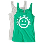 Resting Fuck Face.   Ladies Fitted Jersey Tank