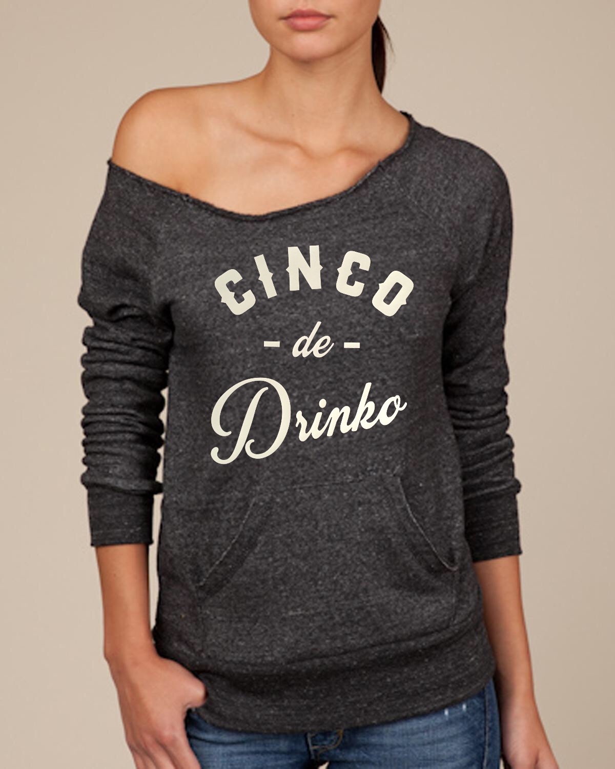 Cinco de Drinko.  Women's Scoop Neck Sweatshirt