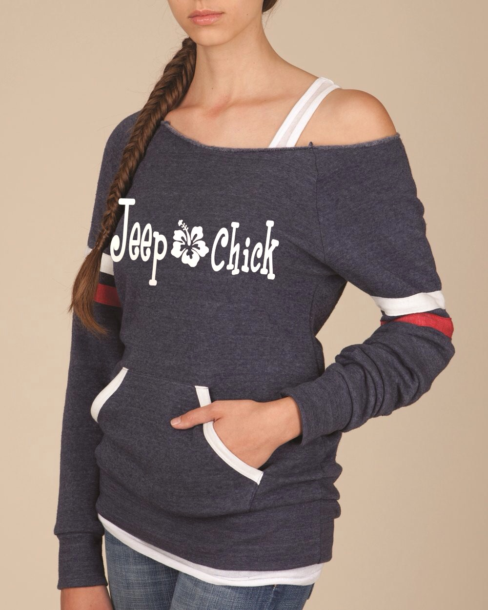 Jeep Chick.  Women's Scoop Neck Sweatshirt