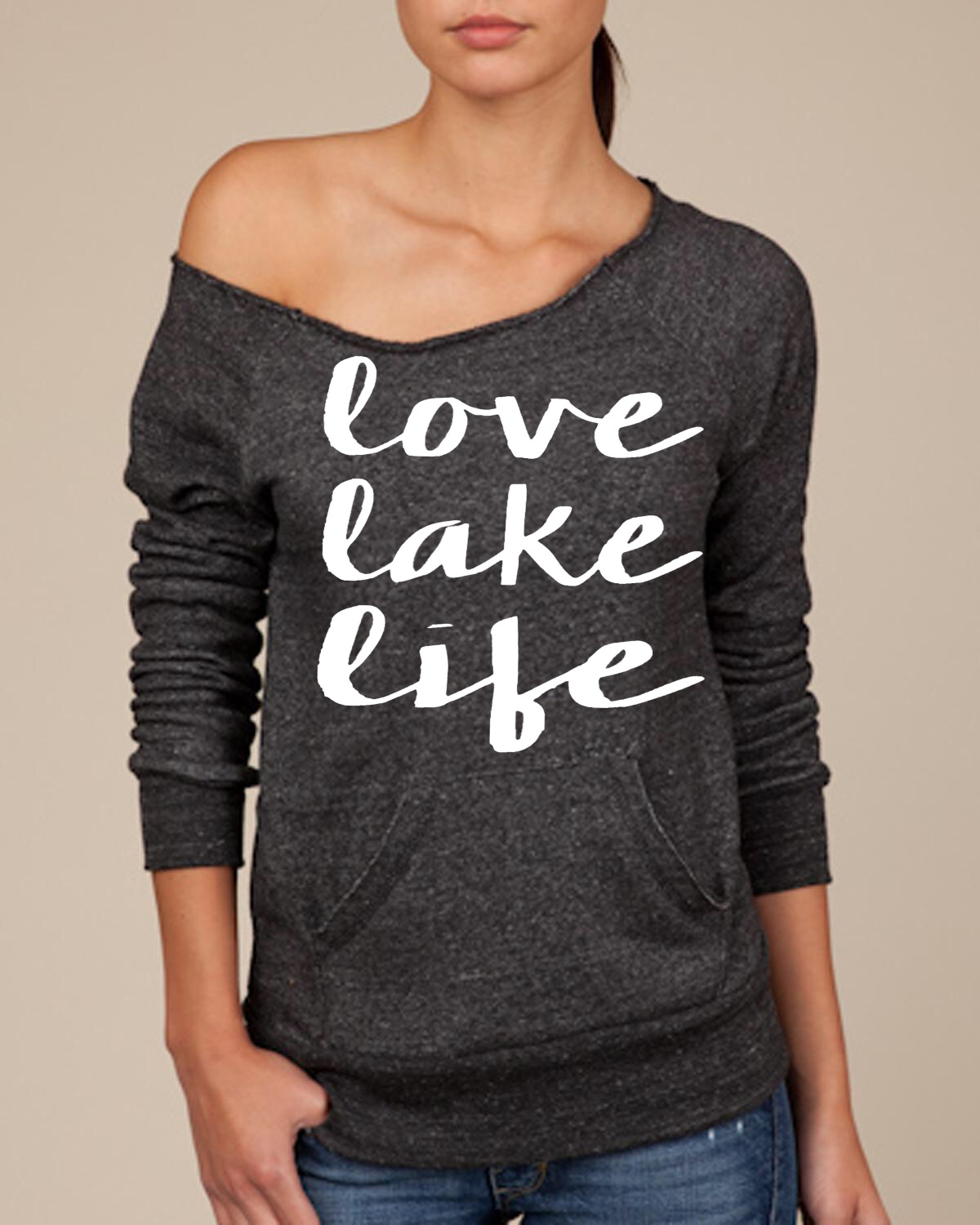 Love Lake Life.  Women's Scoop Neck Sweatshirt