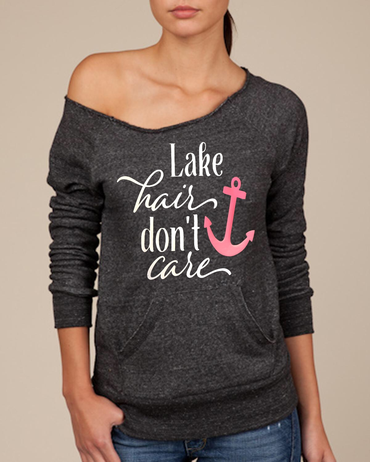Lake Hair Don't Care.  Women's Scoop Neck Sweatshirt