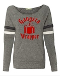 Gangsta Wrapper.  Women's Scoop Neck Sweatshirt