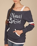 Nauti Girl.  Women's Scoop Neck Sweatshirt