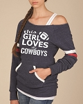 This Girl Loves The Cowboys.  Women's Scoop Neck Sweatshirt