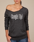 Cowgirl Up!  Women's Scoop Neck Sweatshirt