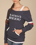 I'm Just Here For The Beer.  Women's Scoop Neck Sweatshirt