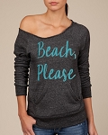 Beach, Please.  Women's Scoop Neck Sweatshirt