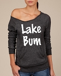 Lake Bum.  Women's Scoop Neck Sweatshirt