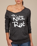 River Rat.  Women's Scoop Neck Sweatshirt