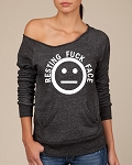 Resting Fuck Face.  Women's Scoop Neck Sweatshirt