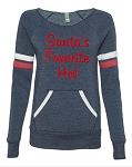 Santa's Favorite Ho!  Women's Scoop Neck Sweatshirt
