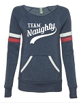 Team Naughty.  Women's Scoop Neck Sweatshirt