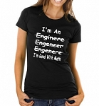 I'm An Engineer (Misspelled) I'm Good With Math.  Ladies T-Shirt