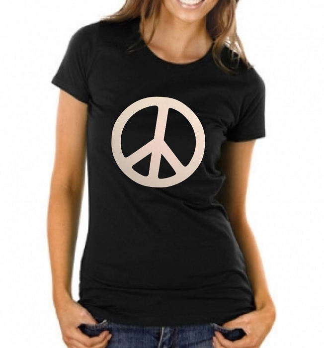 Peace Sign.  Ladies T-Shirt