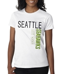 Seattle Seahawks 12th Woman.  Ladies Fitted T-Shirt