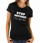 Stop Unwanted Pregnancies.  Have Anal Sex.  Ladies Fitted T-Shirt