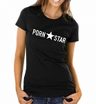 Porn Star.  Ladies Fitted T-Shirt