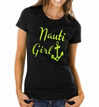 Nauti Girl.  Ladies Fit T-Shirt